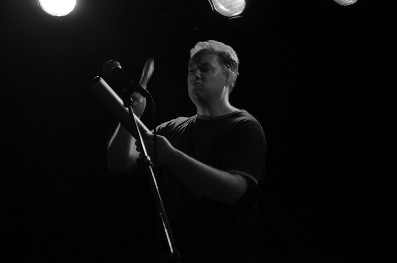 Percussionist Mike Nordby playing the pipe
