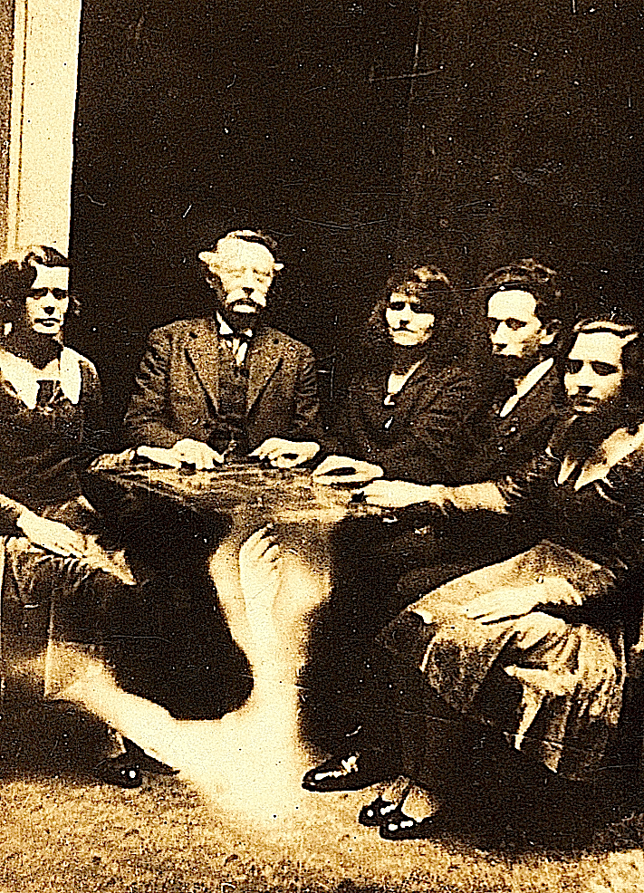 Vintage photo of a seance