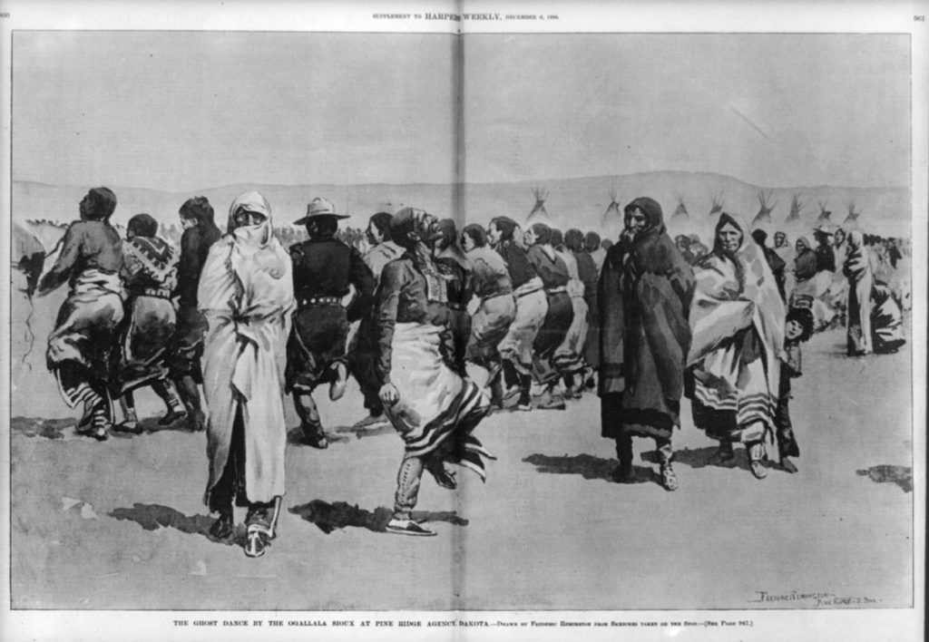 Frederick Remington's depiction of the Ghost Dance