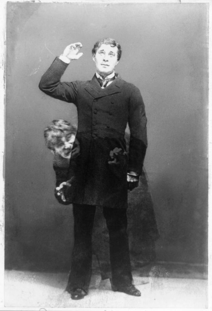 Actor Richard Mansfied as Mr Jekyll