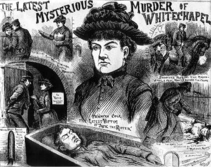 Illustration connecting Frances Coles' murder to the other killings