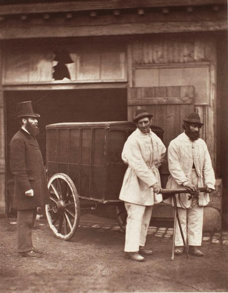 Disinfectors during the cholera epidemic in London circa 1870s