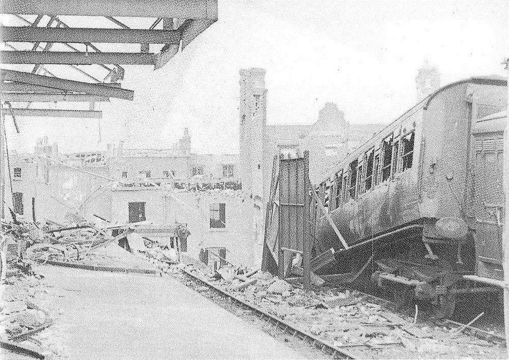 London Necropolis train line bombed during WWII