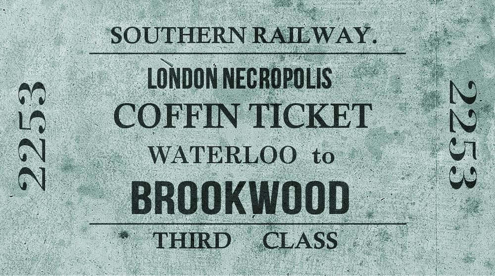 London Necropolis Coffin Ticket