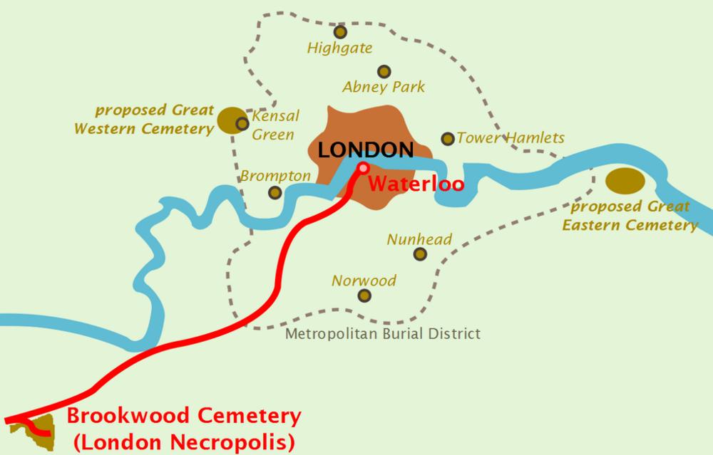 London Necropolis Railway Map