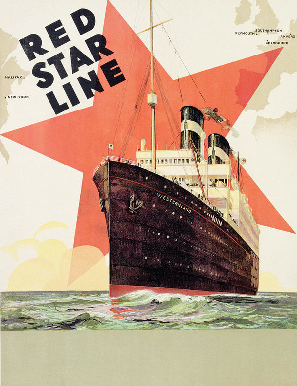 Red Star Ship Line Poster