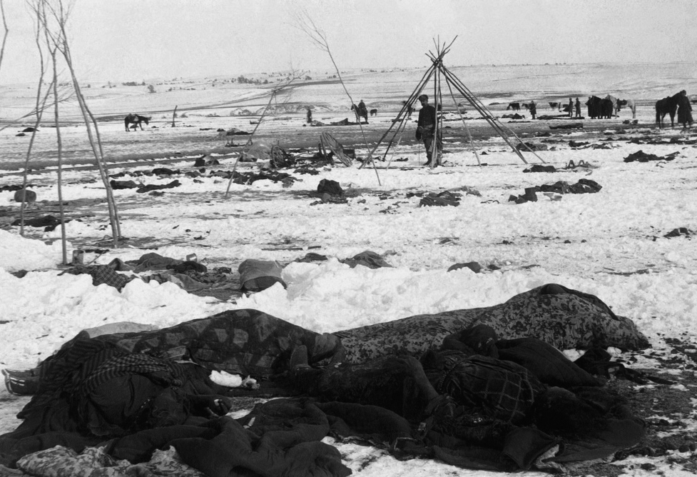Wounded Knee camp after the massacre