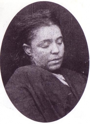 Mortuary photo of Frances Coles