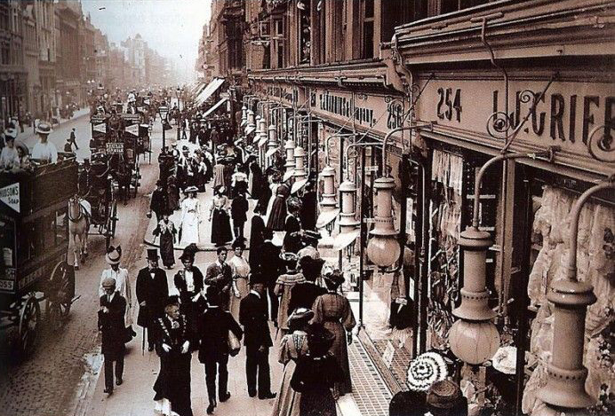 Oxford Street in Walworth London the late 1800s.